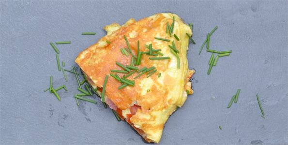 Omvendt omelet med manchego