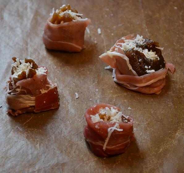 Opskrift med ost, bagt figen med parmesan, Parmigiano Reggiano, nytårsaften, nytårsmenu