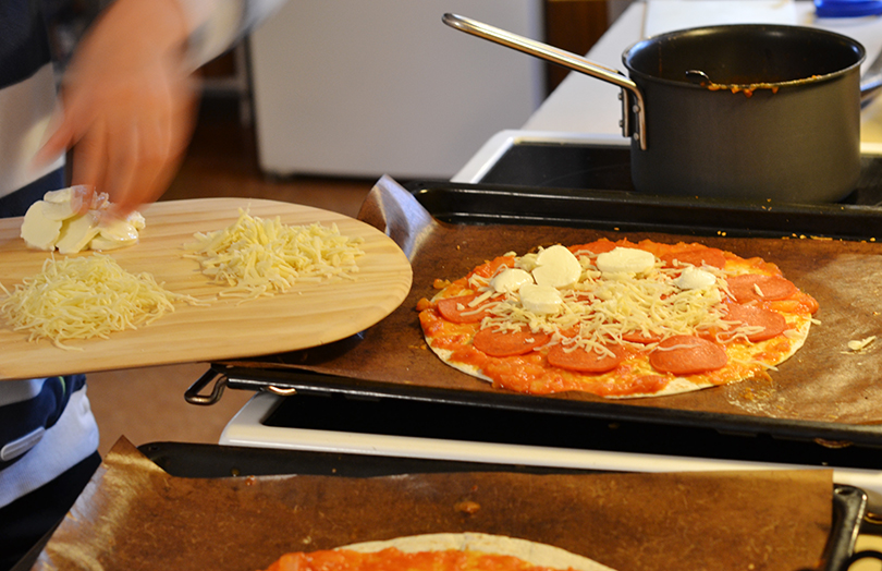 Ost på pizza