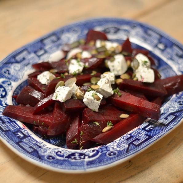 Rødbedesalat med gedeost