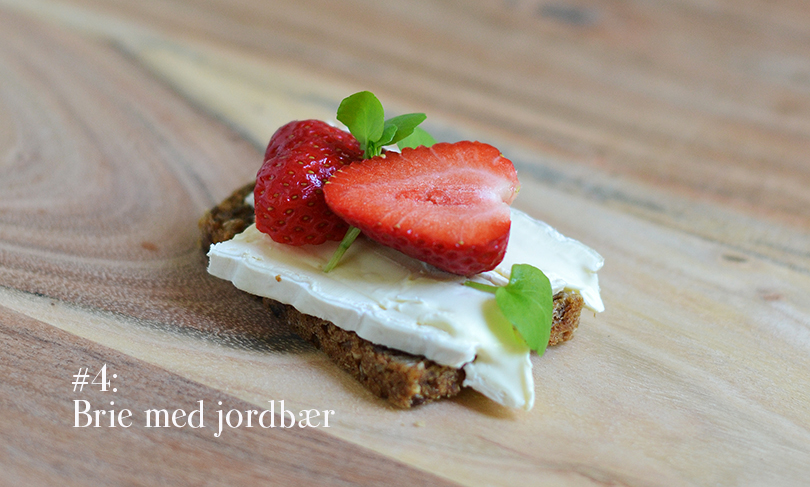 Brie med jordbær