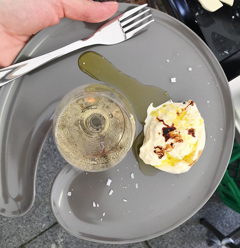 Burrata med olie